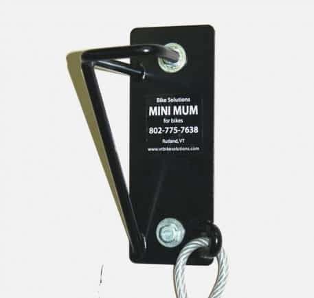 Mini Mum Vertical Bike Hanger with Cable